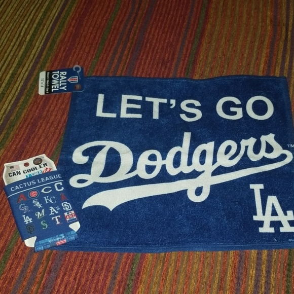 Wincraft Other - Dodgers rally towel & can cooler- NWT